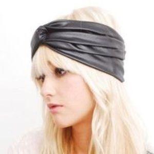 Babooshka Accessories - Faux Leather Turban Headband O S 206b8661de3